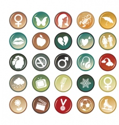 circle buttons vector image vector image