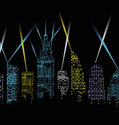 city lights vector image