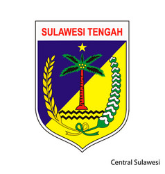 Coat arms central sulawesi is a indonesian vector