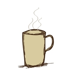 Coffee mug drink vector