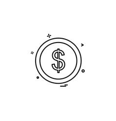 coin icon design vector image