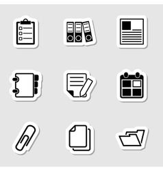 Document Office Icons as Labes vector