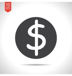Dollar icon vector image