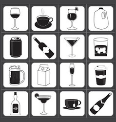 Drinks and Beverages Icon Collection vector