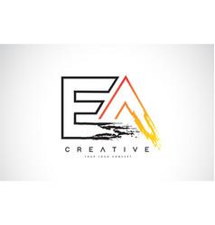 Ea creative modern logo design with orange vector