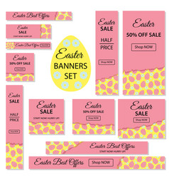 easter sale collection of easter banners for vector image