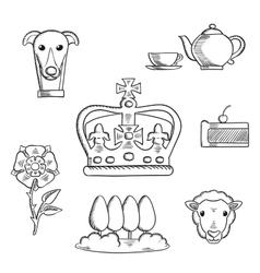 England traditional objects and symbols vector image