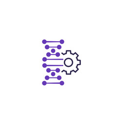 Gene editing icon vector