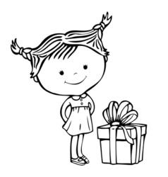 girl present 1 vector image