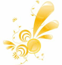 glossy floral design vector image