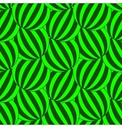 Green striped circles pattern vector image