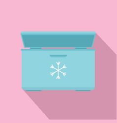 ice cream refrigerator icon flat style vector image