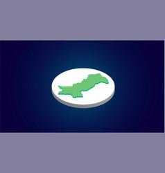 Isometric pakistan map vector