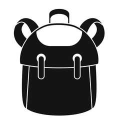 Kid backpack icon simple style vector