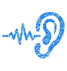 listen grunge icon vector image