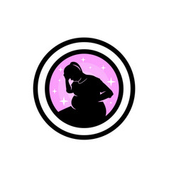 logo design for pregnant woman symbol vector image