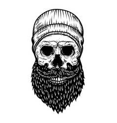lumberjack skull in tattoo style isolated on vector image