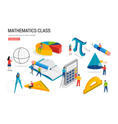 Math lab and school class science education vector