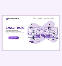 Modern flat design concept backup data copying vector