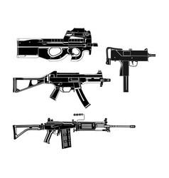 Modern guns vector