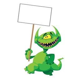 monster smile with a sign vector image