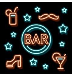 Neon symbol bar vector