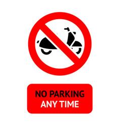 No parking modern label 10eps vector
