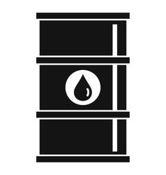 Oil barrel icon simple style vector