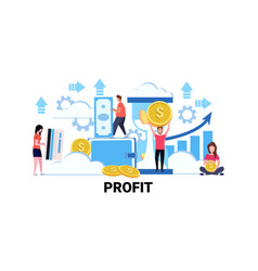 people holding money financial savings profit vector image