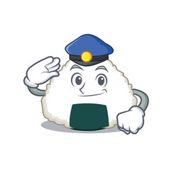 Police onigiri character cartoon style vector