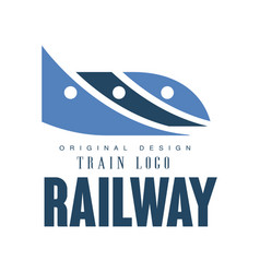 railway train logo original design railroad vector image