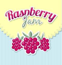 raspberry jam label vector image