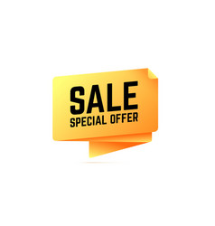 sale special offer origami speech bubble vector image