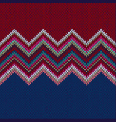 seamless geometric knitted pattern vector image