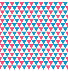 Seamless pattern of blue red and white triangles vector