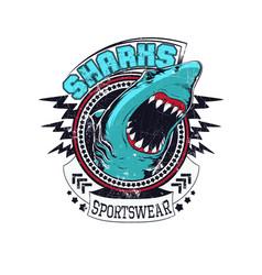 Sharks sportswear vector
