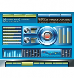 software interface vector image