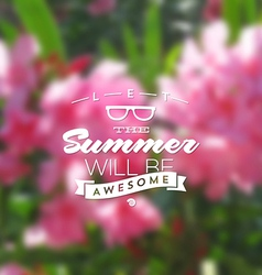 Summer holidays type design vector image