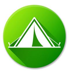 Tent green circle icon design vector