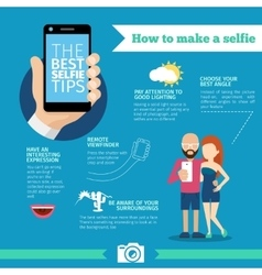 The best selfie tips How to make Infographic and vector image