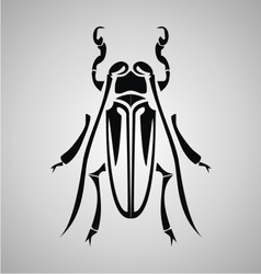 Tribal Bettle vector image vector image