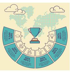 Trophy infographic template design vector