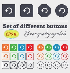 Upgrade arrow update icon sign Big set of colorful vector