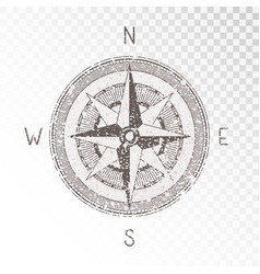 With a vintage textured compass or wind rose and vector