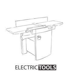 Woodworking jointer on white background vector