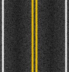 Asphalt road with marking lines vector image
