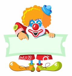 cheerful clown vector image vector image