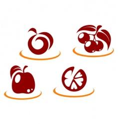 fruit symbols vector image