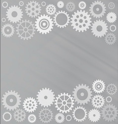 Grey gear background vector image vector image
