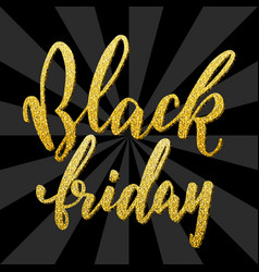 hand drawn lettering for black friday vector image